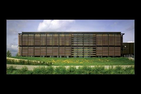 The Citi data centre has white oak louvres on the office area to control solar gain